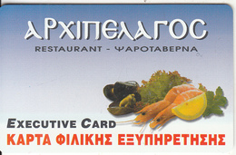 GREECE - Archipelago Restaurant, Member Card, Unused - Other Collections