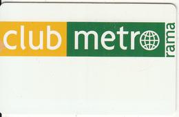GREECE - Club Metrorama, Member Card, Sample - Ohne Zuordnung