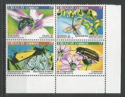 URUGUAY - MNH - Animals - MNH - Insects - Beetles - Butterflies - Papillons