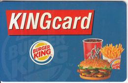 GREECE - Burger King, Member Card, Sample - Ohne Zuordnung