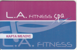 GREECE - L.A.Fitness, Magnetic Member Card, Unused - Other Collections