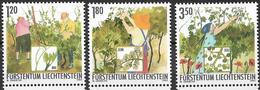 2003  Liechtenstein   Mi. 1316-7**MNH   Die Winzerarbeit Im Sommer. - Liechtenstein