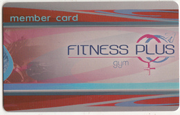 GREECE - Fitness Plus, Member Card, Unused - Other Collections