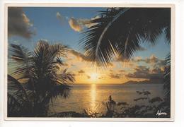 FRANZÖSISCH-POLYNESIEN - SUNSET IN PUNAAUIA, ISLAND OF TAHITI   1992 - Polynésie Française