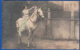 Femme A Cheval TAMPON MILITAIRE 151 RI Vaguemestre 1922 ( Très Très Bon état ) Ti 194) - Femmes