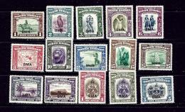 North Borneo 208-22 MLH 1945 Defintive Set - Bornéo Du Nord (...-1963)