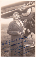 Cpa Photo 1932 Ennemonde Diard à Clermont Ferrand Avec Dédicace - Photo Léon Gendre - Femme Aviatrice De Saint Etienne - Aviateurs