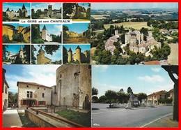 4 CPSM/gf (GERS) Ses Châteaux, Multivues / Larresingle, Vue Aérienne Et Le Village / Eauze, Le Monument Aux Morts...B998 - Non Classés