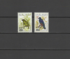 Malawi 2016 Birds Set Of 2 With Overprint Of New Value MNH - Malawi (1964-...)