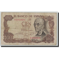 Billet, Espagne, 100 Pesetas, 1970, 1970-11-17, KM:152a, B+ - [ 3] 1936-1975 : Regency Of Franco