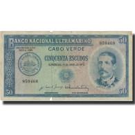 Billet, Cape Verde, 50 Escudos, 1972, 1972-04-04, KM:53a, TB - Cape Verde