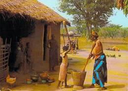 Afrique  En Couleurs -Préparation Du Repas  (1)  Preparation Of Meal  (cliché Chareton  N°7622) -*PRIX FIXE - Non Classés