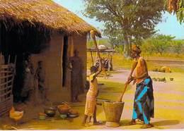Afrique  En Couleurs -Préparation Du Repas  (2)  Preparation Of Meal  (cliché Chareton  N°7622) -*PRIX FIXE - Non Classés