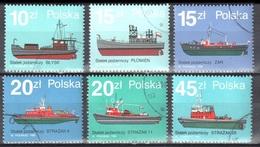 Poland 1988 - Fire Boats - Mi.3184-89 - Used - 1944-.... Republiek