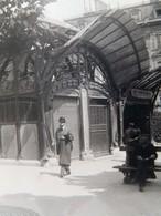 Belle Photo Ancienne édicule Guimard Métropolitain Vers 1900 Métro Art Nouveau - Métro Parisien, Gares
