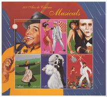 1995 Mali Film Centenary Musicals Cowboys Oz Andrews Travolta    Complete Set Of 6 Sheets  MNH SCV $37.50 - Mali (1959-...)