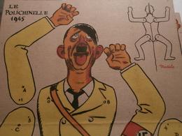 """HITLER :  """" LE POLICHINELLE  1945 """"   PANTIN  HUMORISTIQUE  ANIME  En  CARTON  à  MONTER - Non Classés"""