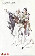 """Croix-Rouge De Belgique : """"L'Entraide"""", Carte De L'illustrateur Massonet, Présentant Le Rôle De L'infirmière. CPA. ED. - Croix-Rouge"""