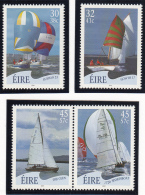 Ireland 2001 MNH Scott #1332-#1335 Set Of 4 Sailboats - Nuovi