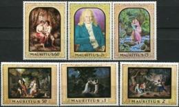 MAURITIUS 1968 Bernardin De St. Pierre Paintings People Dog Fauna MNH - Mauritius (1968-...)