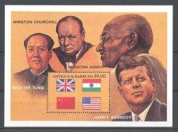Antigua - 1984 Politicians Block MNH__(TH-10242) - Antigua E Barbuda (1981-...)