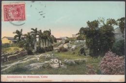 POS-909 CUBA POSTCARD. 1913. MATANZAS, ALREDEDORES CAMPESTRES TO FRANCE. - Cuba