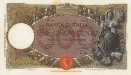 BANCA D ITALIA-500 LIRE -UNC-FDS-COPY-RIPRODUZIONE - [ 1] …-1946 : Kingdom