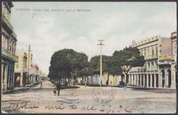 POS-913 CUBA POSTCARD. 1909. HAVANA, PASEO DEL PRADO Y NEPTUNO. USED. - Cuba