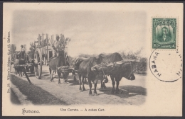 POS-923 CUBA POSTCARD. CIRCA 1910. CARRETA DE CAÑA DE AZUCAR. SUGAR CANE CART. - Kuba