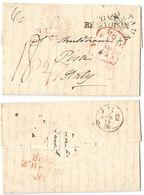 AR84) GREAT BRITAIN - Taunton (UK) To Pisa (Italy) - 1828 - ...-1840 Precursori