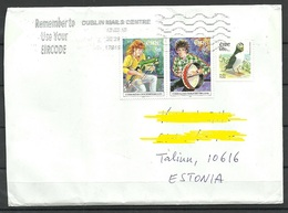 IRLAND IRELAND 2018 Letter To Estonia - 1949-... Repubblica D'Irlanda