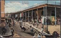POS-933 CUBA POSTCARD. 1927. SANTIAGO  MARKET, EL MERCADO TO FINLAND SOUMI. - Cuba