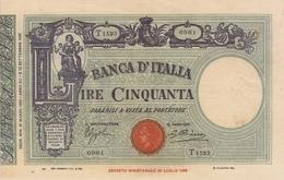 BANCA D ITALIA-50 LIRE -UNC-FDS-COPY-RIPRODUZIONE - [ 1] …-1946 : Kingdom