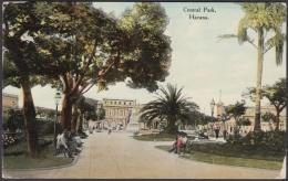 POS-951 CUBA POSTCARD. 1911. HAVANA, CENTRAL PARK  TO BERLIN, GERMANY. - Cuba