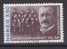 Norway 1993 Mi. 1133     3.50 (Kr) Arbeiterschutzgesetzgebung Johan Castberg (1863-1926) Jurist & Politiker - Norwegen