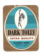 UNUSED BEER LABEL - TOLLY & COBBOLD BREWERY (IPSWICH, ENGLAND) - DARK TOLLY (1960s) (SEE SCAN & DESCRIPTON) - Beer