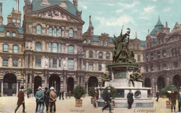 Old Postcard 1902 - Exchange Liverpool England - Animated - Undivided Back - Excellent Condition - 2 Scans - Liverpool