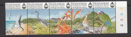 1999 Bahamas National Trust October  Birds Hummingbird Parrot Heron Complete Strip Of 5 MNH - Bahamas (1973-...)