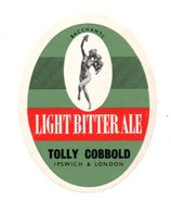 UNUSED BEER LABEL - TOLLY COBBOLD BREWERY (IPSWICH, ENGLAND) - LIGHT BITTER ALE (1960s) - Beer