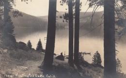 Huntington Lake California, Fresno County South Of Yosemite, C1940s Vintage Real Photo Postcard - Otros