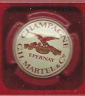 Capsule CHAMPAGNE Martel N°: 14 Contour Rouge - Martel GH