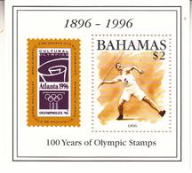 1996 Bahamas Olympics Javelin Swimming Complete Set Of 4 + Souvenir Sheet  MNH - Bahamas (1973-...)