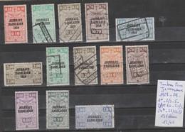LOT DE TIMBRE DE BELGIQUE * / OBLITEREES  Nr VOIR SUR PAPIER AVEC TIMBRES COTE 12.40€ - Journaux