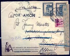 1938 , GUERRA CIVIL , BARCELONA - AARGAU , REDIRIGIDO A OLTEN , AJUT INFANTIL DE RERAGUARDA , SECCIÓ DE PROPAGANDA - 1931-Hoy: 2ª República - ... Juan Carlos I