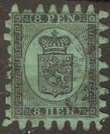 Finland Suomi 1866 8 Penni Used - No Gum -  Plain Paper - 1856-1917 Russian Government
