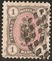 Finland Suomi 1882 1 Marka - Perforation 12½, - 1856-1917 Russian Government