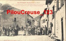 """09 Ariège - L'HOSPITALET - """" La Place Du Village Et Le Pic De Font Nègre - TRES BELLE ANIMATION """" - Pamiers"""