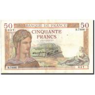 France, 50 Francs, 50 F 1934-1940 ''Cérès'', 1938, 1938-03-17, TTB - 1871-1952 Antichi Franchi Circolanti Nel XX Secolo