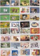 CHAT CHATS - JOLI LOT De 50 TELECARTES Japon - ANIMAL - CAT Japan Phonecards - KATZE Telefonkarten - GATTO - GATO - 4039 - Chats