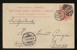 UNITED KINGDOM - INGHILTERRA -  INTERO POSTALE  - 1895 - DA SHEFFIELD A BRUGG (SVIZZERA) - RARA!!! - 1840-1901 (Regina Victoria)